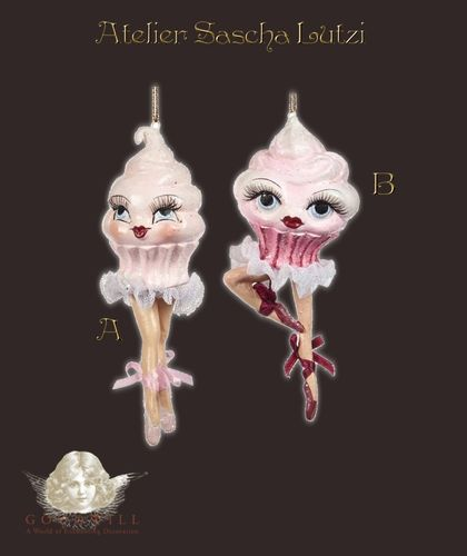Cupcake Lady Ornament