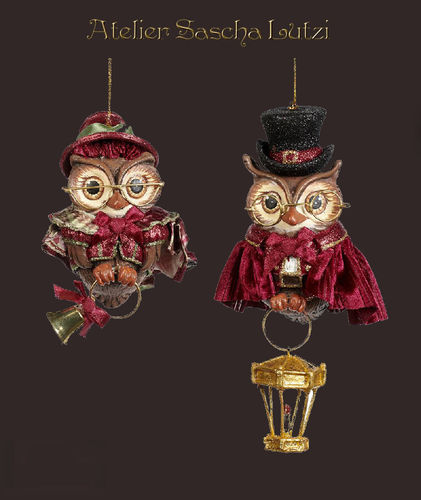 Christmas Carol Girl Or Boy Owl Ornament